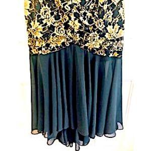 Casadei Dresses - Casadei Dress Black Gold Formal Black Gold Floral